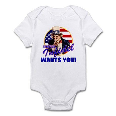 Uncle Infidel Wants You Infant Creeper