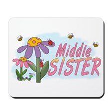 Silly Flowers Middle Sister Mousepad
