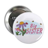 "Silly Flowers Big Sister 2.25"" Button"