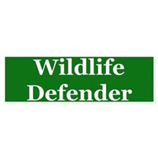 Wildlife Defender Bumper Bumper Sticker