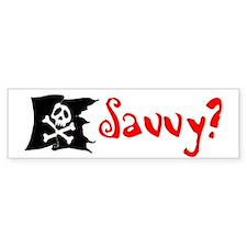 Pirate Savvy Bumper Bumper Sticker
