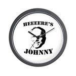 Heeeeere's Johnny Wall Clock