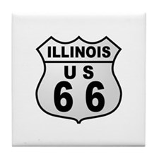 Illinois Route 66  Tile Coaster