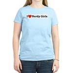 I love Nerdy Girls Women's Pink T-Shirt