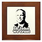 In John we trust Framed Tile