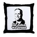 In John we trust Throw Pillow