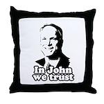 In John we trust Throw Pillow