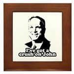 I've got a crush on John McCain Framed Tile