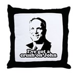 I've got a crush on John McCain Throw Pillow