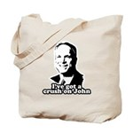 I've got a crush on John McCain Tote Bag