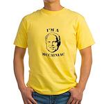 McCainiac Yellow T-Shirt