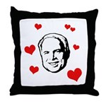 I heart McCain Throw Pillow