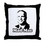 Mad Mac Throw Pillow