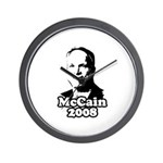 John McCain 2008 Wall Clock