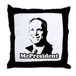 The McPresident Throw Pillow