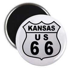 "Kansas Route 66 2.25"" Magnet (100 pack)"