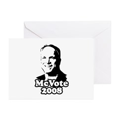 McCain: McVote 2008 Greeting Cards (Pk of 20)