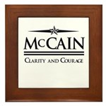 McCain / Clarity and Courage Framed Tile