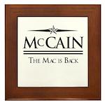 McCain / The Mac is back Framed Tile