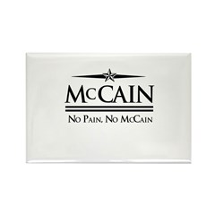 McCain / No Pain, No McCain Rectangle Magnet