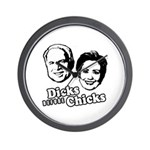 Dicks before Chicks Wall Clock