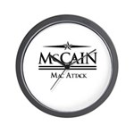 McCain / Mac Attack Wall Clock