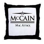 McCain / Mac Attack Throw Pillow