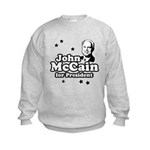 John McCain for president Kids Sweatshirt
