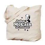 John McCain for president Tote Bag