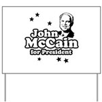 John McCain for president Yard Sign