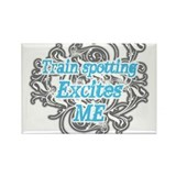 Train spotting excites me Rectangle Magnet