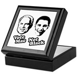 Vote Mac Not Black Keepsake Box