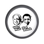Vote Mac Not Black Wall Clock