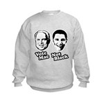 Vote Mac Not Black Kids Sweatshirt