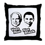 Vote Mac Not Black Throw Pillow