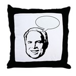 McCain (fill in bubble) Throw Pillow