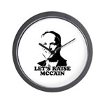 Let's raise McCain Wall Clock