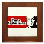 I'm a McCainiac Framed Tile