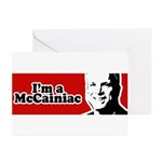 I'm a McCainiac Greeting Cards (Pk of 20)