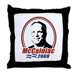 McCainiac 2008 Throw Pillow