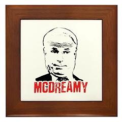 McCain is McDreamy Framed Tile