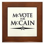 McVote for McCain Framed Tile