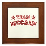 Team McCain Framed Tile