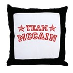 Team McCain Throw Pillow