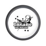 I'm insane for McCain Wall Clock