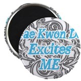 "Cute Tae kwon do excites me 2.25"" Magnet (10 pack)"