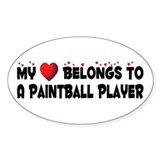 Belongs To A Paintball Player Oval Bumper Stickers