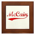 John McCain Framed Tile