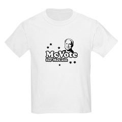 McVote for McCain Kids Light T-Shirt