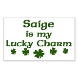 Saige - lucky charm Rectangle Decal